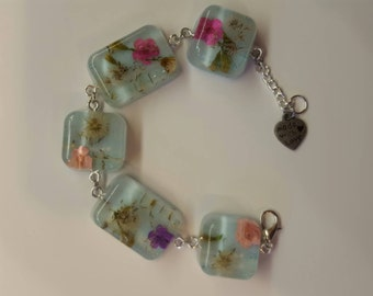 Dandelion Wishes Flower Charm Bracelet