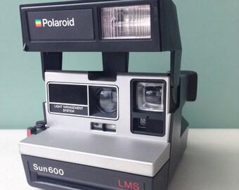 Polaroid Camera, Polaroid Sun 600 LMS
