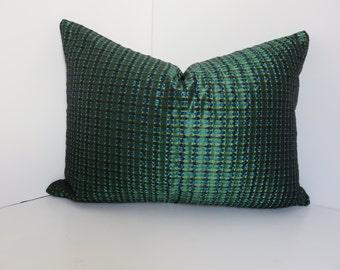 Decorative Pillow Covers-Emerald PIllow- Tenaci Emerald Pillow-  Dark Green Pillow-  Silk Pillow-Accent Pillow- Home Pillow