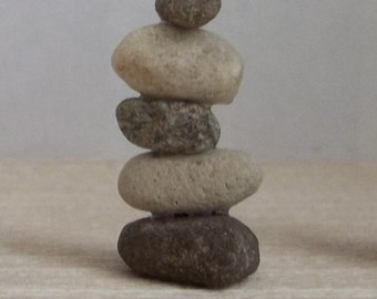 NEW OOAK Tiny Zen Balance Rock Sculpture 'Repetition' in 1:12 Scale for Dollhouse Miniature or Desktop Gift