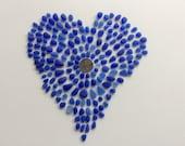 175 Cobalt & Cornflower Blue Genuine Sea Glass   CC-J20-183