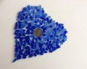 200 Cobalt & Cornflower Blue Genuine Sea Glass  CC-J23-C-206