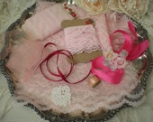 SALE...Vintage & contemporary Shades Of Pink Lace Supplies Destash Collection From SincerelyRaven On Etsy