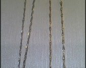 Handmade Necklace, Reserved For L,One Sterling Silver Chain, One 14kt. Gold Fill Chain