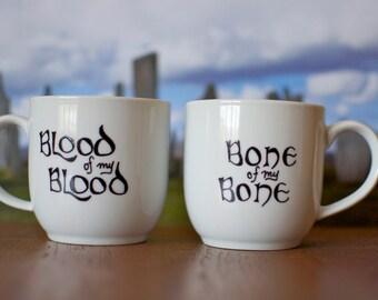 Outlander Gaelic Wedding Vow Mug Set