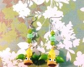 Weepinbell Pokemon Earrings - Pokemon Jewelry