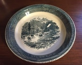 Beautiful Royal China Currier & Ives Early Winter pie plate