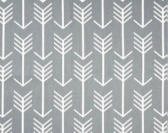 Gray Arrows Sheet - Cradle, Mini Crib, Pack and Play, Crib, Twin, Full