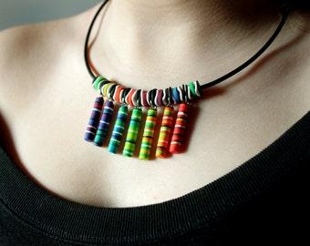 Reiki Polymer Clay Necklace