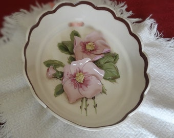 Beautiful Cleminson Wall Plaque Hand Painted, Marked and Signed by Painter, K.l. - REDUCED