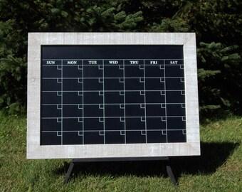 Barnwood Framed Calendar Chalkboard