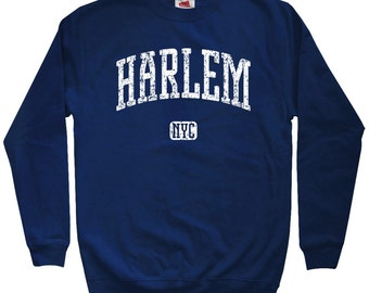Harlem NYC Sweatshirt - Men S M L XL 2x 3x - Harlem Crewneck, Gift, Renaissance, Luke Cage, New York City, 125th Street- 4 Colors