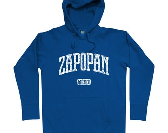 Zapopan Mexico Hoodie - Men S M L XL 2x 3x - Zapopan Hoody, Sweatshirt, Mexican, Jalisco, Chivas - 4 Colors