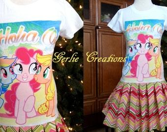 Girls MLP Dress, Girls Dress, Pinkie Pie, Rainbow Dash, Applejack, MLP Dress - 3 Left XS 4/5 S 6/6X