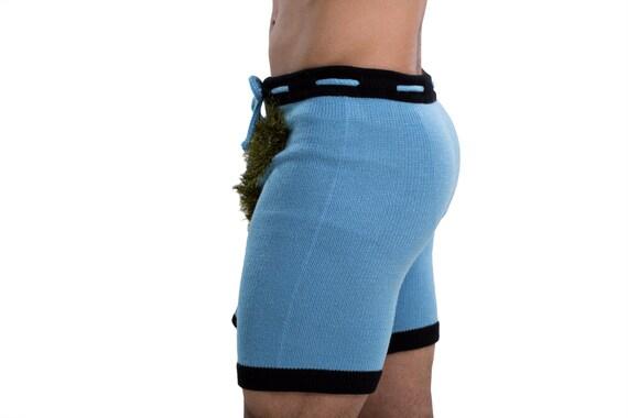 SEXY SHORTS - men shorts, knitted men underwear, summer shorts, party shorts, booty shorts, sexy costume, adult costume, halloween costume