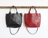 Stella - Bag in Italian Leather - Red or Black - SALE - 30% OFF