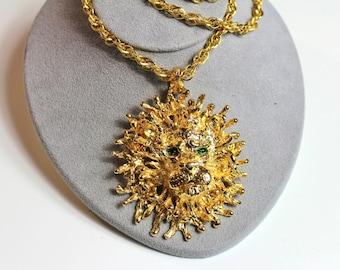 Fabulous Signed TancerII  Lion Necklace # 458