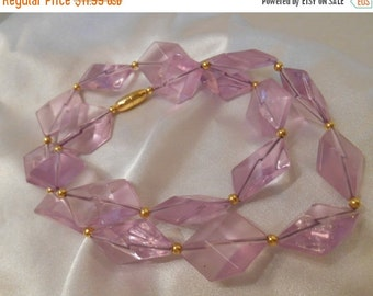 40% OFF SALE Avon Crystal Impressions Plastic Choker Necklace in Lilac Frost