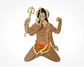 Shiva the Indian God articulated paper doll paper puppet unique and unusual gift hindu birthday present kraft paper decoration by mooncoocoo