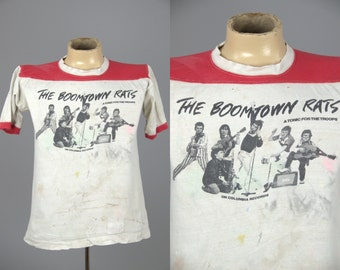70s Boomtown Rats Tour Shirt 1979 Promo A Tonic For the Troops Tour Classic Rock Tee