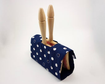 Hand Carder Cover. Fabric Case for your Hand Carders. Sheep Print
