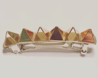 Gold Plated Metal Spike French Barrette, for parties, fun, special occasions