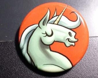 Mint Green Unicorn Button