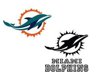 Miami Dolphins Decal/RTIC YETI  Car Decal, Computer Decal, Window Decal, Cell Phone Decal