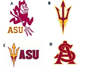 Arizona State University Decal/RTIC YETI  Car Decal, Computer Decal, Window Decal, Cell Phone Decal