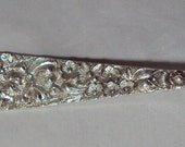 Antique Sterling Silver Stieff Rose Small Cold Meat Fork