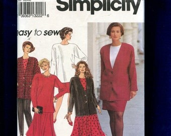 Simplicity 8081 Easy Fitting Tunic Tee Jacket Pants & Skirts Size 26W to 32W UNCUT