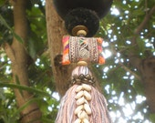 RESERVED FOR AKOSUA   Decorative Bead Work, Folkart Decoration, Boho lantern