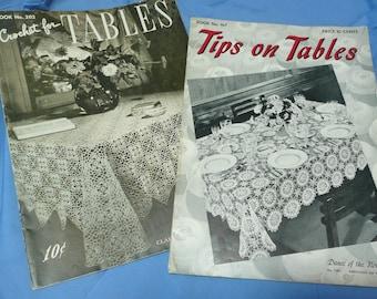 Vintage Crochet Books, Clark's no. 202, 167, Tableclothes