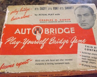 Auto Bridge 1959 Game/Play Yourself Bridge