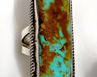 Vintage Royston Turquoise Navajo Statement Ring