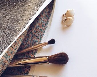 Handmade Makeup Travel Bag - Gifts For Her Gifts Under 30