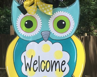 Owl Door Hanger, Teacher Door Hanger, Back To School, Classroom Theme, Spring Door Hanger, Summer Door Hanger, Childs Room
