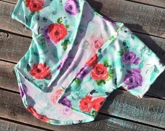 SALE***Aqua Rose Kimono 12-18m