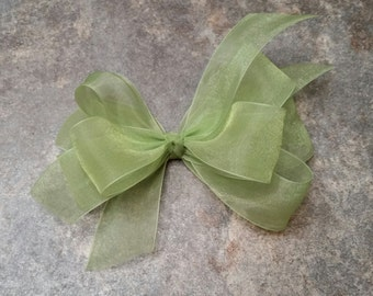 Green (Kiwi) Sheer Toddler Bow
