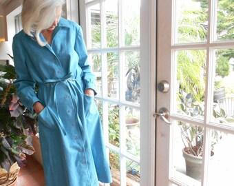 Vintage Abe Schrader coat dress ultra suede 1970's big pockets minimalist traditional: large