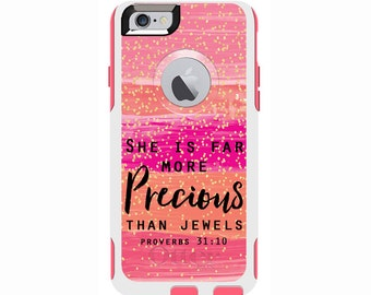 Proverbs 31:10 Custom Otterbox Commuter Case for iPhone 6/6s PLUS, iPhone 6/6s, iPhone 5c, iPhone 5/5s, Galaxy S7