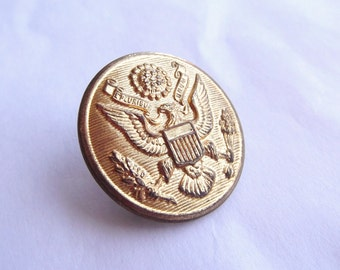 US Army US Eagle Shield Brass Army Button