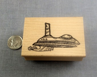 Spaceship Rubber Stamp