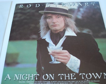 Rod Stewart Vinyl record a Night on the Town