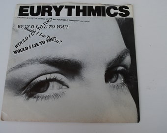 Vintage Eurythmics 45  rpm record 1985