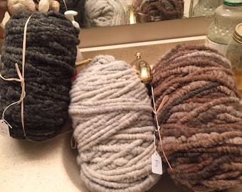 Corespun alpaca rug yarn
