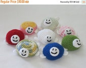 ON SALE - 10% OFF Crochet toy animal Turtle...Soft,safe.stuffed litty bitty Turtle... baby toy