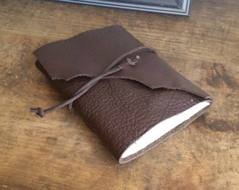 Slim Leather Journal, Chocolate Brown 4.5 x 6 Journal by The Orange Windmill on Etsy 1628