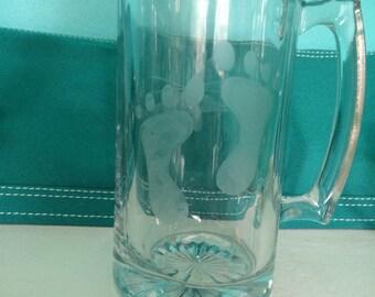 Custom Etched Beer Mug- set of two