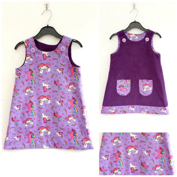 Unicorn Dress Girls Unicorns Dress Girls Reversible Dress